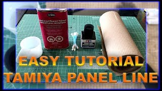 EASY TUTORIAL: How to Use Tamiya Panel Line Accent Color (Black)