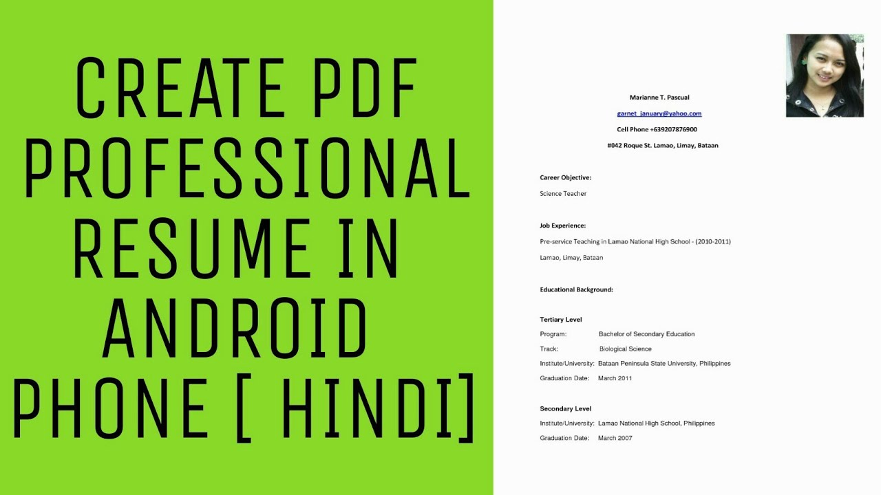 How To Make Professional Resume On Android Phone Best Resume Apps 2018 Hindi