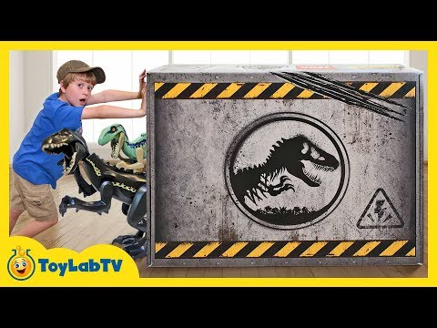 Giant LEGO Dinosaur Toys Surprise! Build Dinosaurs with