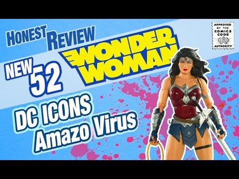 DC Icons New 52 Amazo Virus Wonder Woman Honest Toy  Review