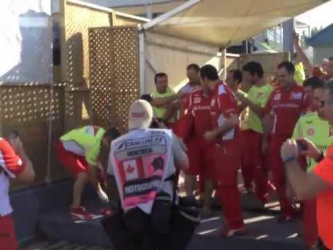 Formula 1 behind the scenes with Fernando Alonso, Nicole Scherzinger, Lewis Hamilton.