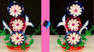 How To Make Plastic Bottle Showpiece - Craft Ideas Using Plastic Bottles - Recycled Plastic Bottles