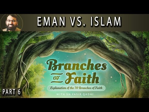 Branches of Faith - Pt.6 -  Eman vs. Islam, what is the difference? - Sh. Dr. Yasir Qadhi