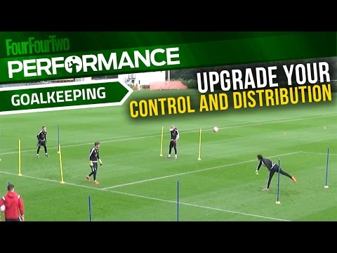 Goalkeeper training drills | Improve ball control and distribution | Swansea City Academy