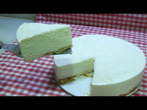 Cómo hacer una deliciosa tarta de coco y yogurt casera y muy cremosa sin horno