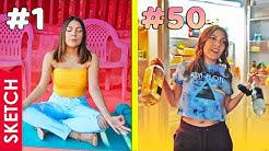 Día 1 en CUARENTENA vs día 50 - Katia Nabil