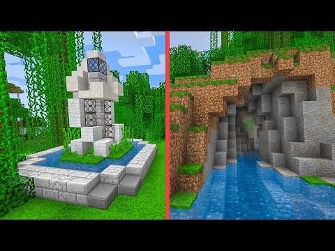 Minecraft Building w/ BdoubleO :: Statue of Wind & Windy Canal! e443
