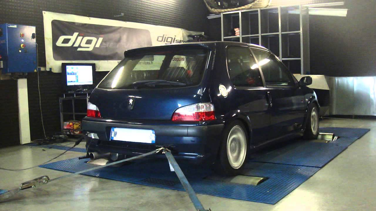 reprogrammation moteur peugeot 106 s16 120cv 156cv dyno digiservices paris youtube. Black Bedroom Furniture Sets. Home Design Ideas