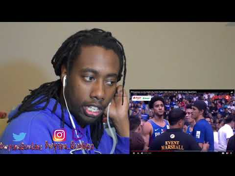 Philippines Vs Australia Rumble Fight FIBA World Cup 2019 Asian Qualifiers REACTION