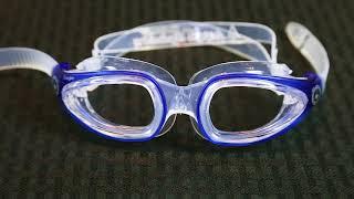 Aqua Sphere Eagle Swim Goggles - Prescription Lenses for Nearsighted Swimmers