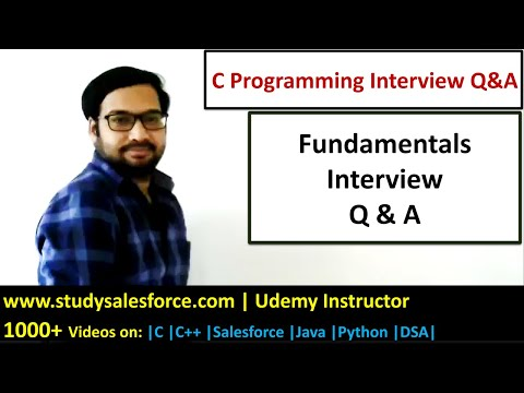 Fundamentals Of C Programming Interview Questions And Answers   C Programming   C Language Tutorials