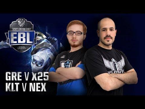 EBL LoL: Greek Regenesis vs x25 Esports | KlikTech vs Nexus Gaming | 1. Runda