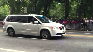 2 UNITED STATES SECRET SERVICE POLICE UNITS PATROLLING ON CENTRAL PARK SOUTH AT POPE FRANCIS VISIT.