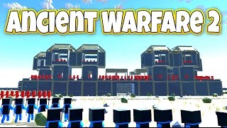 Riding Elephants and Custom Castles! - Let's Play Ancient Warfare 2 Gameplay