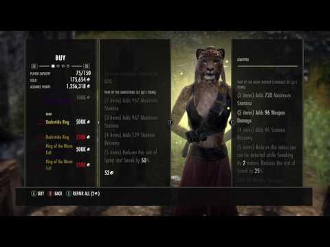 Elder Scrolls Online - Monster Vendor Golden (Engine Guardian & Worm Ring!)