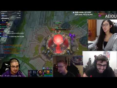 League Of Legends - Trick2g with the hilarious Backdoor (Streamers Synced)