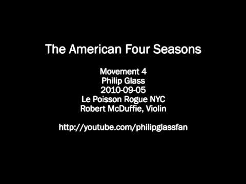 Philip Glass' The American Four Seasons: Movement 4 (Piano Reduction)