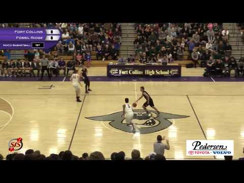 Boys Basketball: Fort Collins HS vs Fossil Ridge HS - 1/31/17