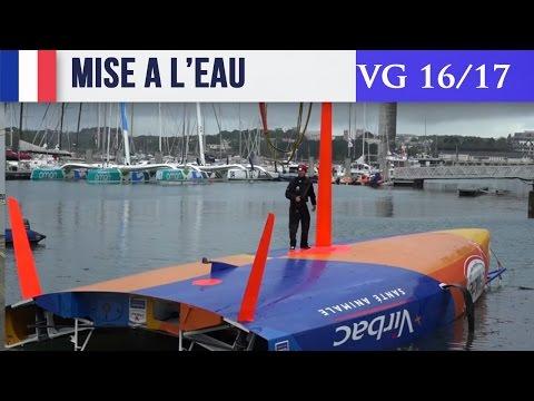 Vendée Globe - Mise à l'eau de Saint Michel Virbac