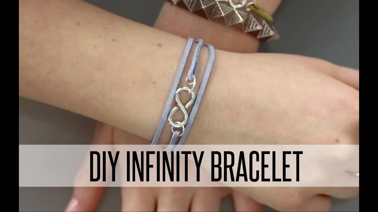 DIY WRAP INFINITY BRACELET - YouTube