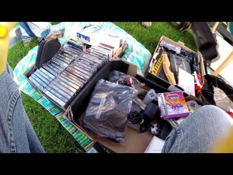OUT AND ABOUT AT CARBOOT IN LOOE HUNTING FOR RETRO VIDEO GAMES