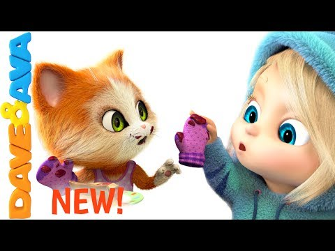 Thumbnail: 🎶 Three Little Kittens Songs for Toddlers | Nursery Rhymes from Dave and Ava 🎶