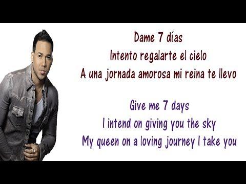 Romeo Santos - 7 Días Lyrics English and Spanish - Translation & Meaning