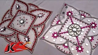 DIY Kundan Rangoli Design on OHP Sheet |...