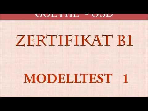 Goethe Und ösd Zertifikat B1 Hören B1 Modelltest 5 Kompletter