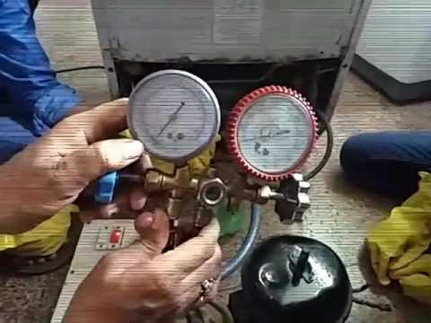 duble door refrigerator gas charging