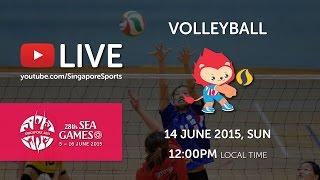 Volleyball Men's Indonesia vs Cambodia (Day 9) | 28th SEA Games Singapore 2015