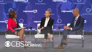 "Jennifer Lawrence urges people to ""demand better"" of U.S. politics"