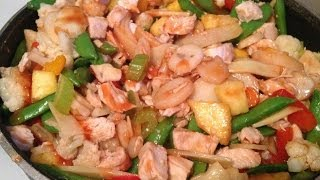 Pineapple Orange Chicken Stir-fry Recipe! Day #342
