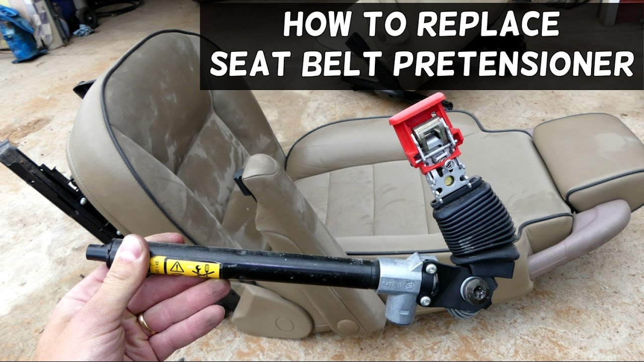 how to replace seat belt pretensioner youtube. Black Bedroom Furniture Sets. Home Design Ideas