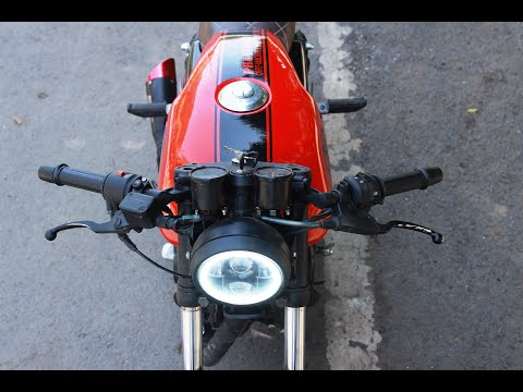 pulsar 180 based cafe racer by dirt machine custom motorcycles indore