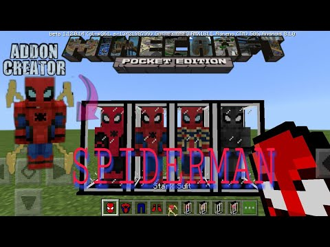 Minecraft Pocket Edition || Add-On Spiderman Beta Mcpe