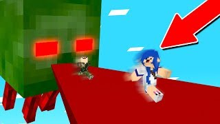 ESCAPANDO DO ZUMBI GIGANTE NO MINECRAFT!!!