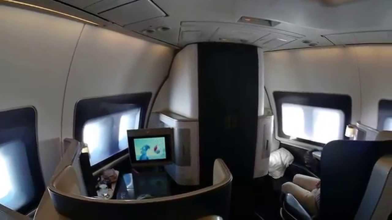 First Class British Airways 747 Youtube
