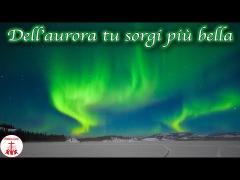 DALL'AURORA TU SORGI PIU' BELLA Karaoke Versione strumentale Musica Cristiana Canti Religiosi