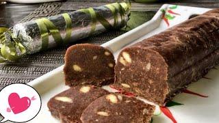 Шоколадная колбаска. Покоряет вкусом и простотой приготовления.