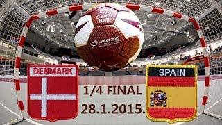 Handball гандбол DENMARK ESPAÑA Qatar Katar 2015 World Men