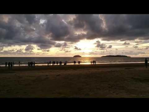 Sabah Malaysia Borneo Sun Set at Tg Aru