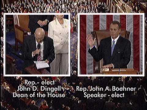 Dingell Swearing-in House Speaker John Boehner to Begin 113th Congress - 1/3/2012