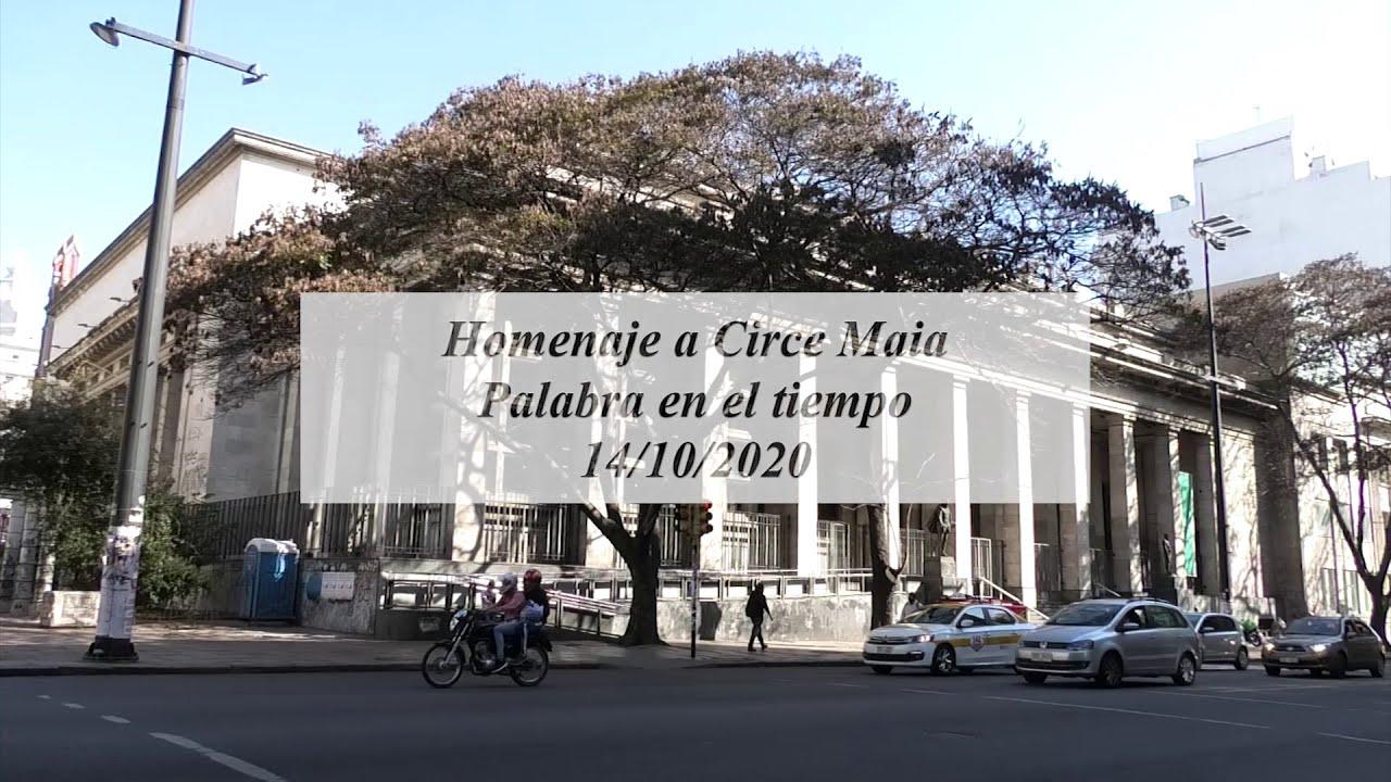 Compartimos Jornadas Circe Maia, Biblioteca Nacional, 14 y 15 de octubre 2020. Montevideo, Uruguay.