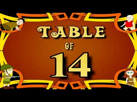 Learn Multiplication Table Of Fourteen - 14 x 1 = 14 | 14 Times Tables | Fun & Learn Video for Kids