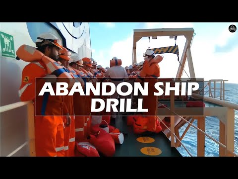 ABANDON SHIP DRILL | LIFE BOAT TRAINING | SHIP VLOG 08