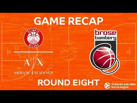 Highlights: AX Armani Exchange Olimpia Milan - Brose Bamberg