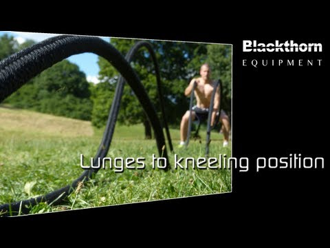 aerobis - Battle Rope - Lunges to kneeling position