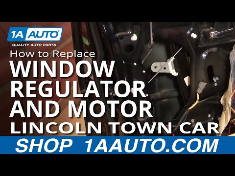 How To Replace Install Front Window Regulator and Motor PART 1 Lincoln Town Car 98-11 1AAuto.com