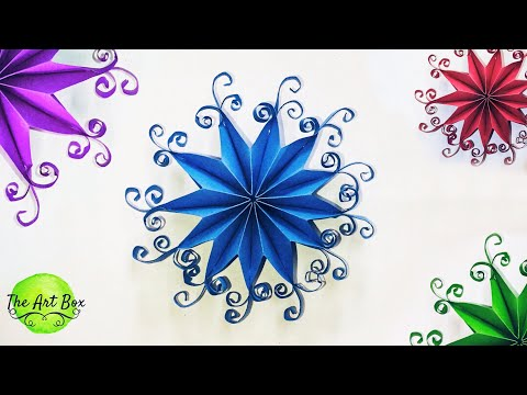 Quilled Snowflakes 3D - Snowflakes & Quilling - How to make paper Snowflakes - DIY Snowflakes